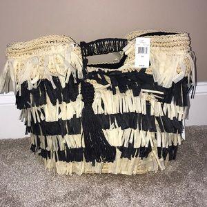 Bay sky straw bag